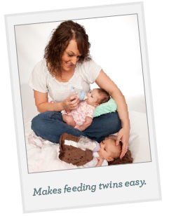 Feeding twins is easy with Versy.